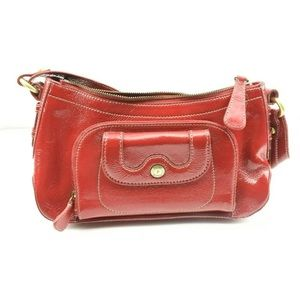 Perlina Pretty Red Patent Genuine Leather Purse